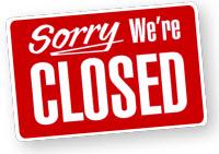 Christmas business shut down